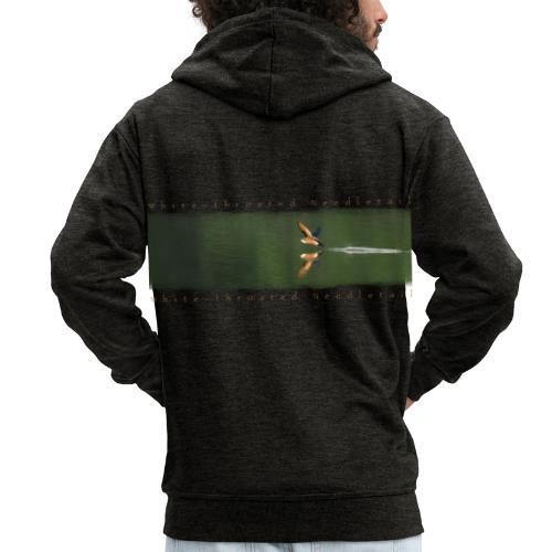 Swallow over the lake. Aerobatic reflection mirror - Men's Premium Hooded Jacket