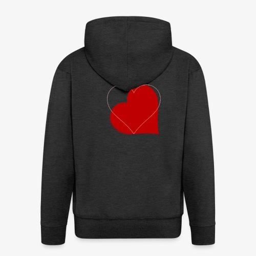 Love - Felpa con zip Premium da uomo