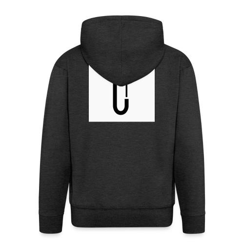 Cw0 Official Logo Slipper Black White - Men's Premium Hooded Jacket