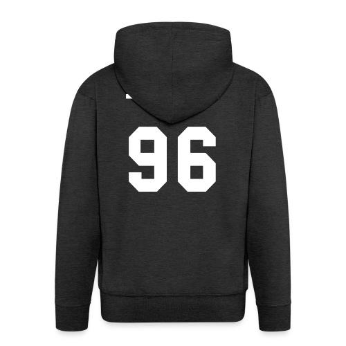 maglietta_flame_96 - Felpa con zip Premium da uomo