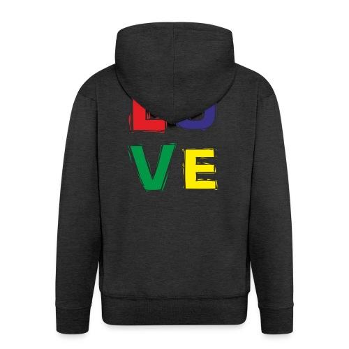 LOVE - Männer Premium Kapuzenjacke