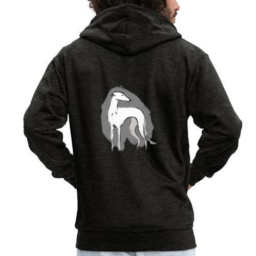 Weißer Windhund - Männer Premium Kapuzenjacke