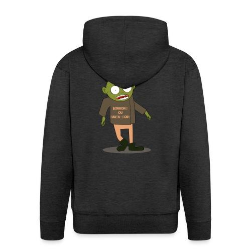 Zombie gourmand - Veste à capuche Premium Homme