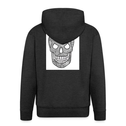 Zentangle Skull 1 - Mannenjack Premium met capuchon