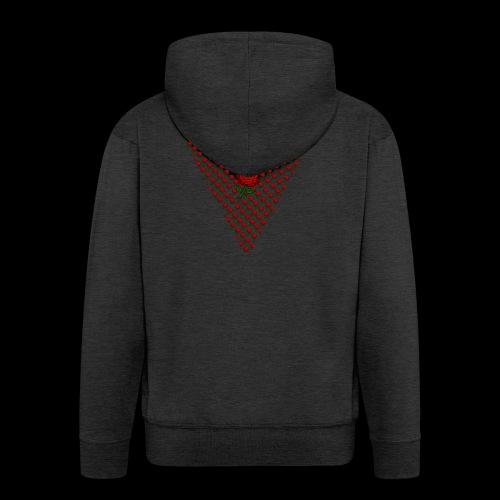 Dreieck Rose - Männer Premium Kapuzenjacke