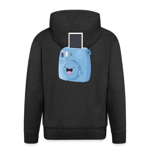 Appareil photo instantané bleu - Veste à capuche Premium Homme