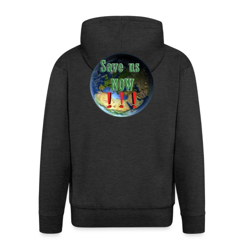 save us earth friday for future - Men's Premium Hooded Jacket