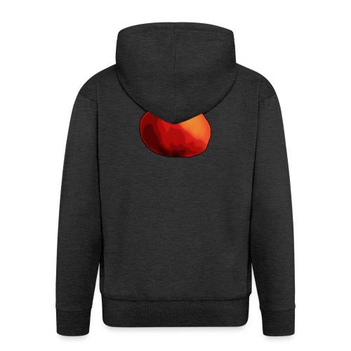 mela-png - Felpa con zip Premium da uomo