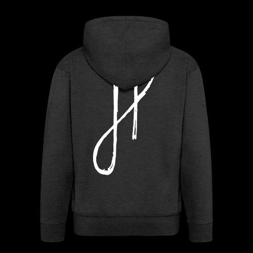 JP Logo Grunge - Männer Premium Kapuzenjacke