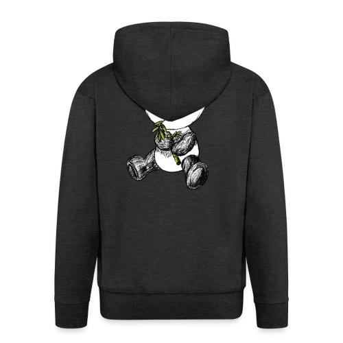 Panda bjørn farvet scribblesirii - Herre premium hættejakke