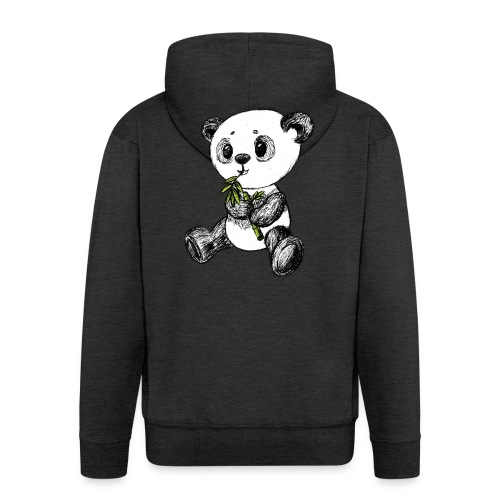 Panda Karhu värillinen scribblesirii - Miesten premium vetoketjullinen huppari