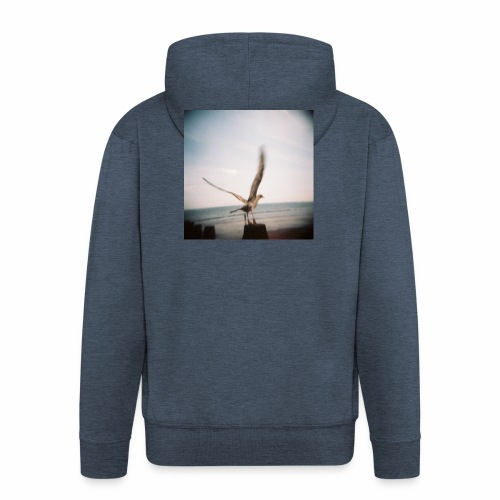 Original Artist design * Seagull - Men's Premium Hooded Jacket
