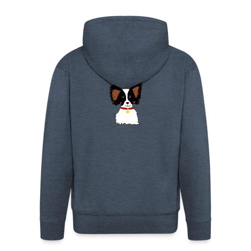 Papillon dog - Men's Premium Hooded Jacket