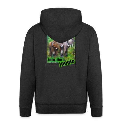 Willkommen im Dschungel - Männer Premium Kapuzenjacke