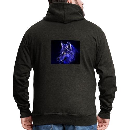 jeff wolf - Premium Hettejakke for menn