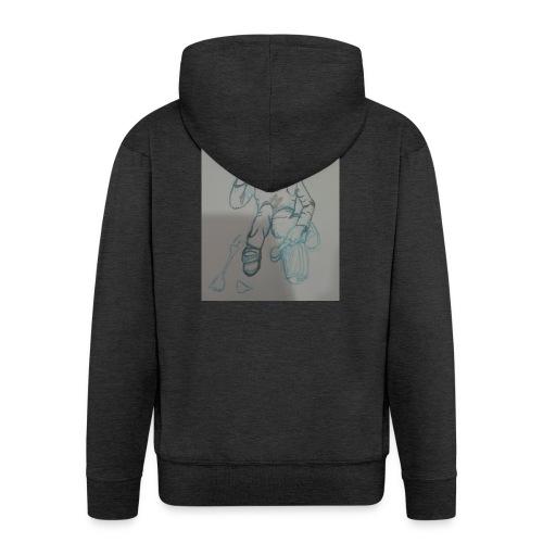Camiseta con retrato - Chaqueta con capucha premium hombre