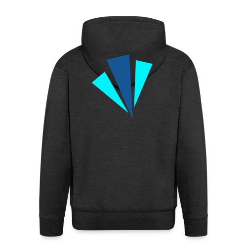 Blauwe Objecten T-shirt - Mannenjack Premium met capuchon