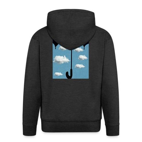 Ombrello che protegge un cielo sereno - Felpa con zip Premium da uomo