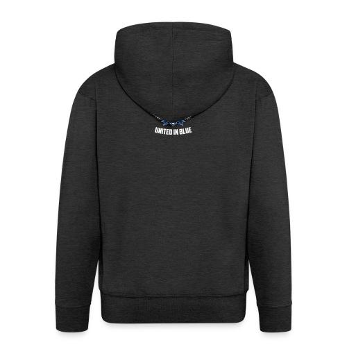 United In Blue - Felpa con zip Premium da uomo