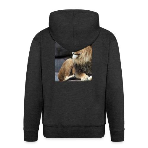 Lion - Felpa con zip Premium da uomo