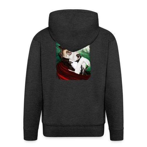 Gothic Dog #3 - Felpa con zip Premium da uomo