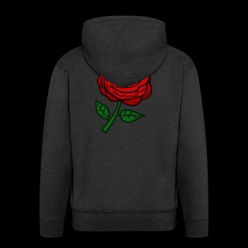 Rote Rose - Männer Premium Kapuzenjacke