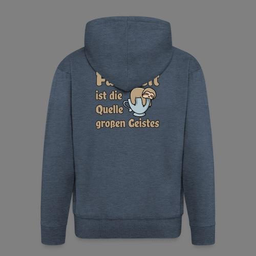 Faulheit - Männer Premium Kapuzenjacke