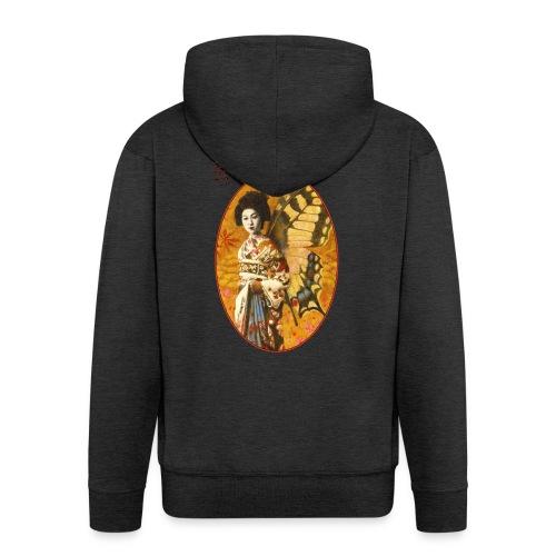 Vintage Japanese Geisha Oriental Design - Men's Premium Hooded Jacket