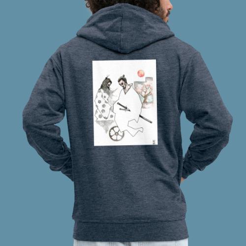 Samurai copia jpg - Felpa con zip Premium da uomo