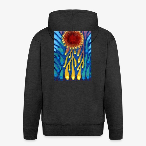 Chore Słońce - Rozpinana bluza męska z kapturem Premium