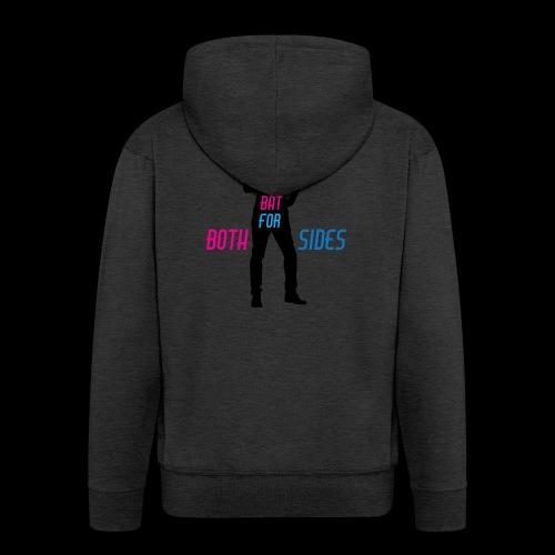 I bat for both sides male - Men's Premium Hooded Jacket