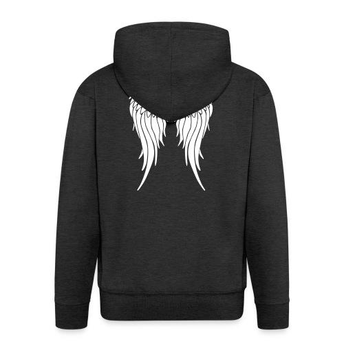 whitewings-ai - Men's Premium Hooded Jacket
