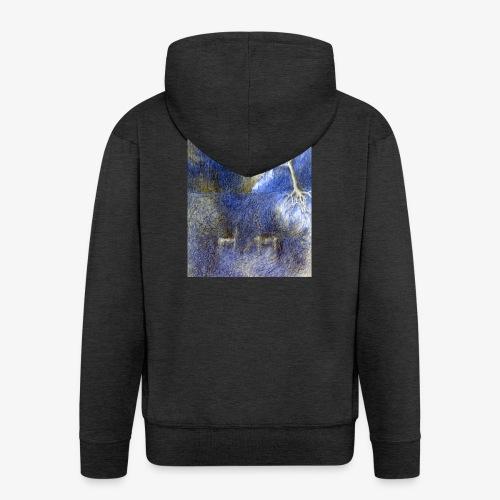In Night On Meadow - Rozpinana bluza męska z kapturem Premium