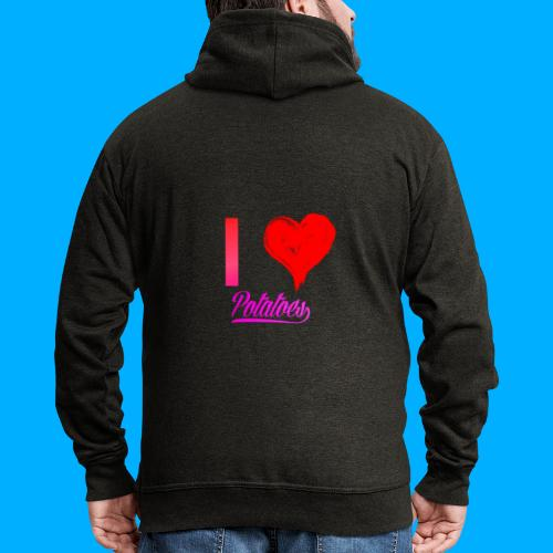 I Heart Potato T-Shirts - Men's Premium Hooded Jacket