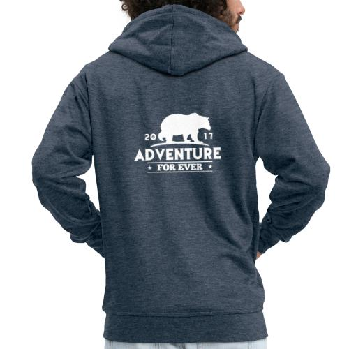 ADVENTURE FOR EVER - GRIZZLY - Felpa con zip Premium da uomo