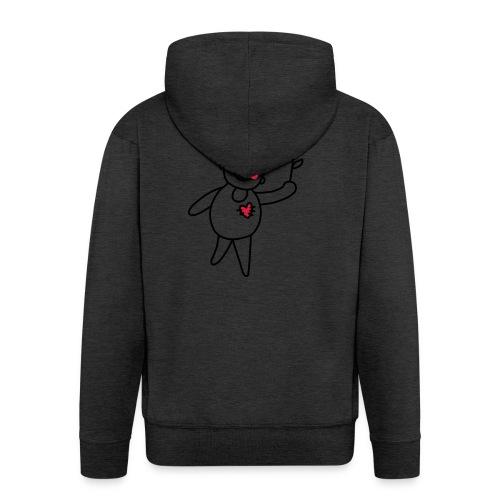 Strichmännchen Blume Herz Kinderzeichnung Graffiti - Men's Premium Hooded Jacket