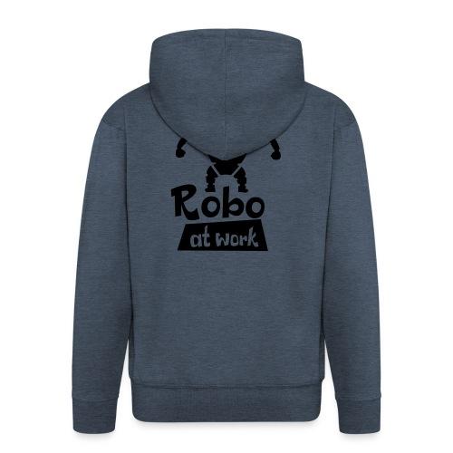 robot at work - Männer Premium Kapuzenjacke
