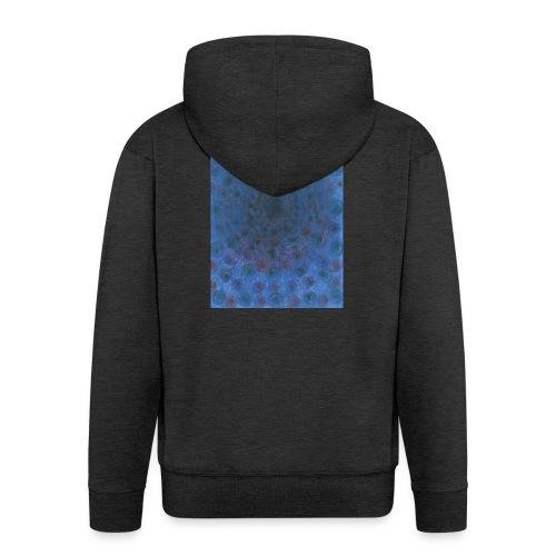 Blue Sky - Rozpinana bluza męska z kapturem Premium
