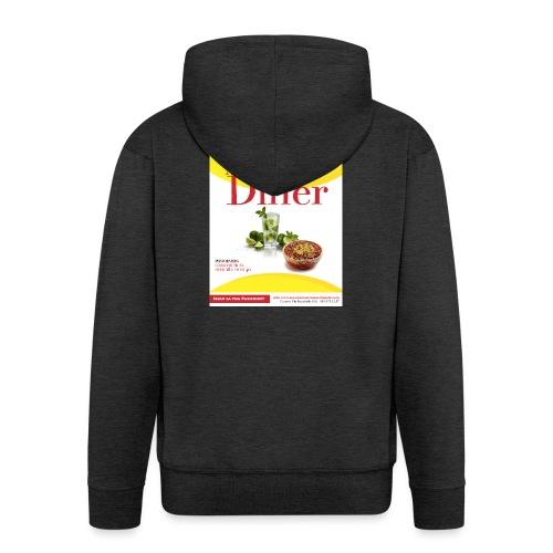 Mel-George-s_diner - Felpa con zip Premium da uomo
