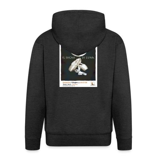 Il Sogno di Luna - Felpa con zip Premium da uomo