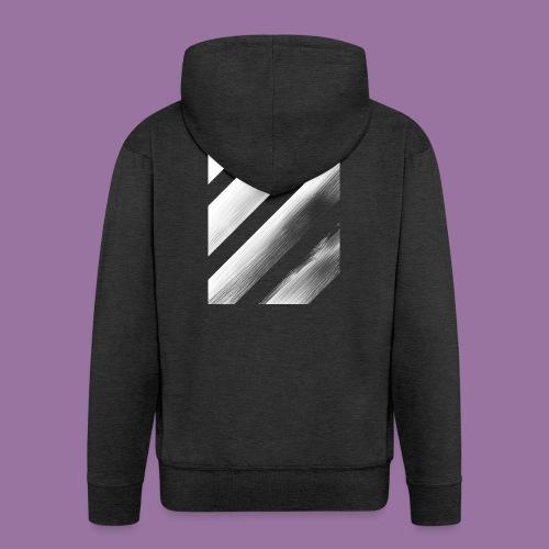 Stripes Diagonal White - Felpa con zip Premium da uomo