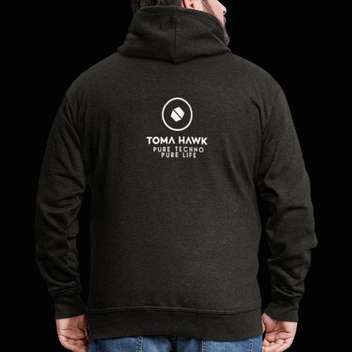 Toma Hawk - Pure Techno - Pure Life White - Männer Premium Kapuzenjacke