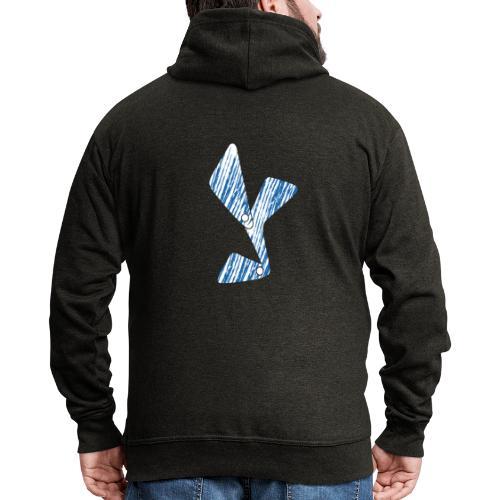lettera Y blu - Felpa con zip Premium da uomo