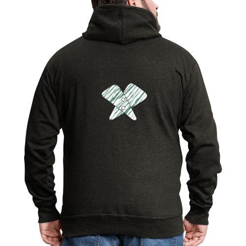 lettera X verde - Felpa con zip Premium da uomo