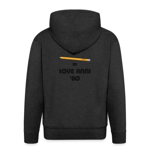 Maglietta love anni 80 - Felpa con zip Premium da uomo