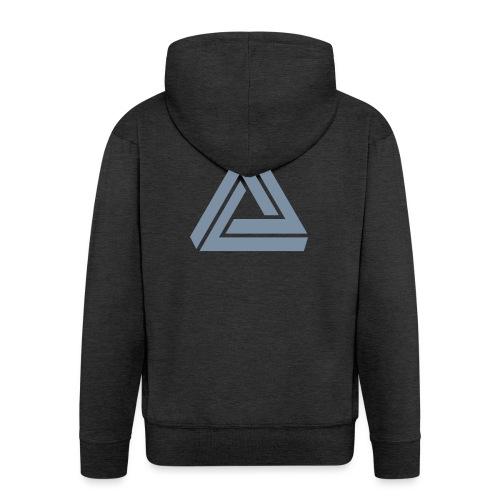 Tribar Dreieck, Unmögliche Figur Optische Illusion - Männer Premium Kapuzenjacke