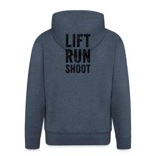 Lift Run Shoot Fitness - Mannenjack Premium met capuchon