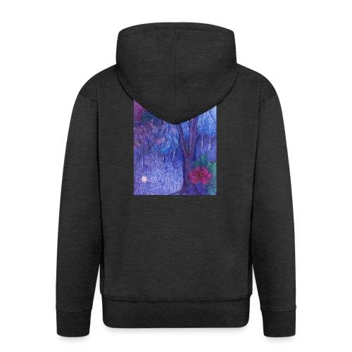 Forest Flower - Rozpinana bluza męska z kapturem Premium