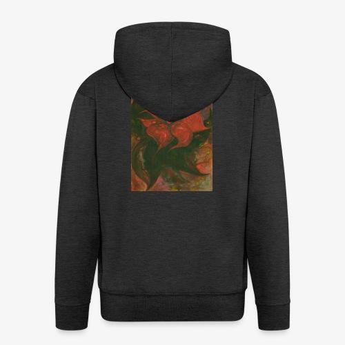 Flower 6 - Rozpinana bluza męska z kapturem Premium