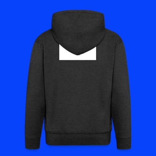 t-shirt bianca con cuore - Felpa con zip Premium da uomo